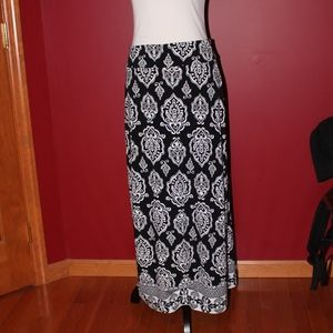White House Black Market paisley maxi skirt